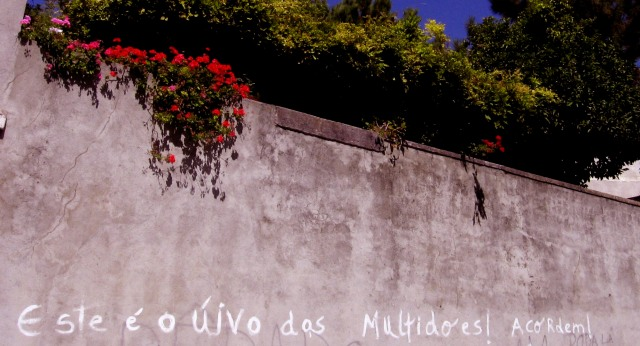 """This is the multitude's howl! Wake up!"" ""¡Este es el aullido de la multitud! ¡Despertad!"" Alfama, Lisbon, 2008"