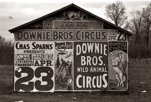 Walker Evans (1936) Downie Bros Circus comes to Lynchburg, South Carolina