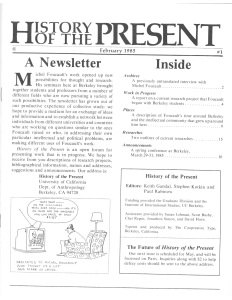 History of the Present no 1