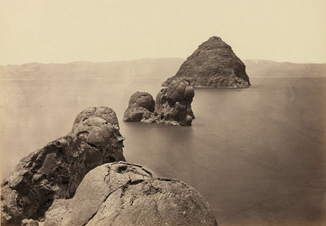 Timothy O'Sullivan (1867) Turfa Domes, Pyramid Lake, Nevada