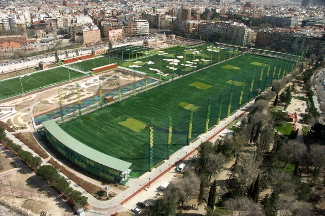 General view of the so-called Parque Santander